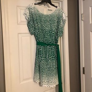 Green and white Nordstrom Dress